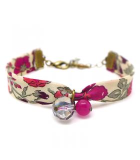 Bracelet Liberty Fuchsia - Bijoux fantaisie tendance - Les Bijoux Acidules
