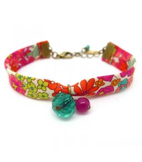 Bracelet Liberty Jardin d'Eté - Bijoux fantaisie tendance - Les Bijoux Acidules
