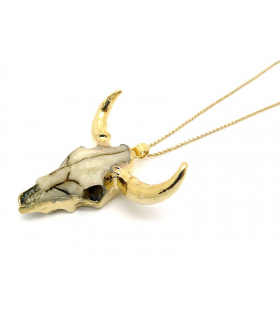 Cow Skull boho necklace