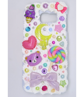 Coque Galaxy S6 edge Moon - Coque kawaii decoden - Les Bijoux Acidules