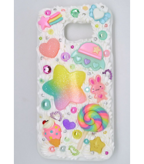 Coque Galaxy S6 edge UFO - Coque kawaii decoden - Les Bijoux Acidules