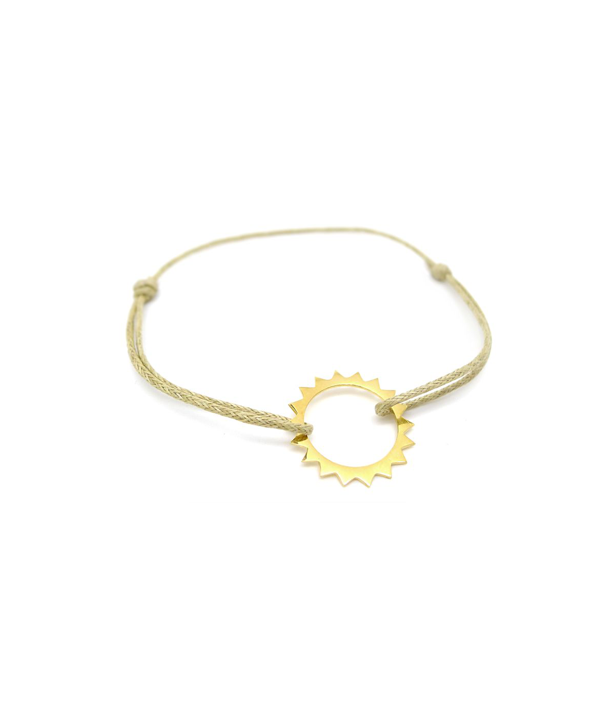 en gros remise pour vente dernier style de 2019 Bracelet Soleil - Vermeil et coton sable