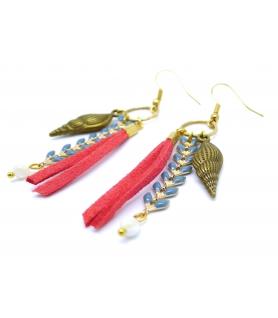 Boucles d'oreilles Coquillage - Bijoux Bohème