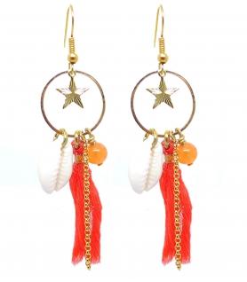Boucles d'oreilles Corail - Bijoux Bohème